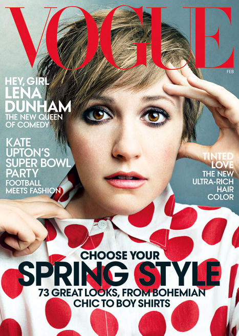 Lena Dunham on the cover of 'Vogue'