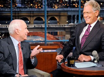 David Letterman and John McCain