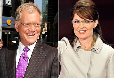David Letterman and Sarah Palin