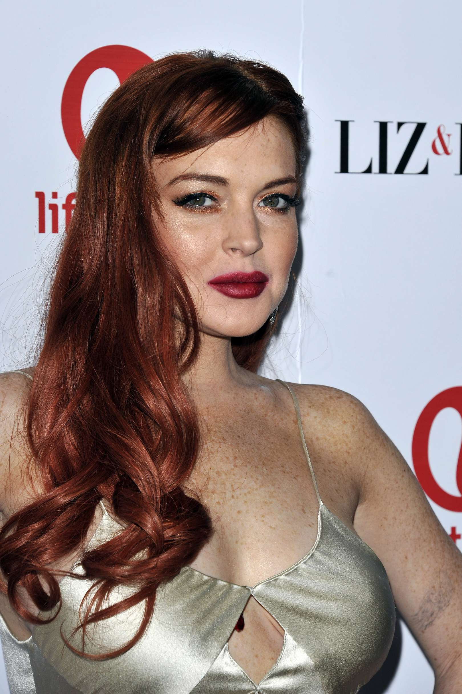 Lindsay Lohan at the premiere of 'Liz & Dick'