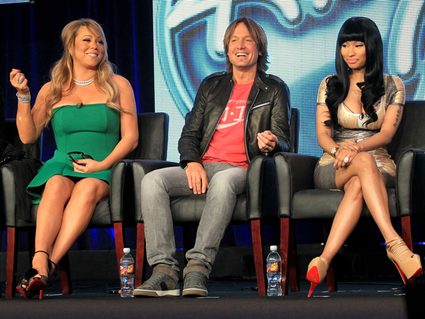 Mariah Carey, Keith Urban, and Nicki Minaj