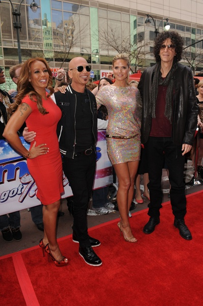 Mel B, Howie Mandel, Heidi Klum, and Howard Stern