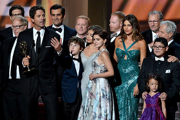 The Modern Family cast at the Emmys