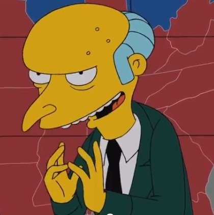Mr. Burns on 'The Simpson'