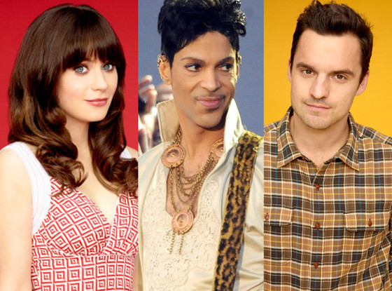 Zooey Deschanel, Prince, and 'New Girl' actor Jake Johnson