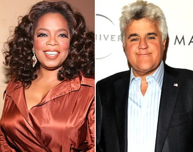 Oprah Winfrey and Jay Leno