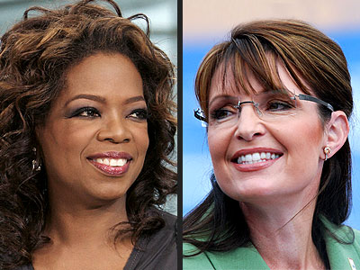 Oprah Winfrey and Sarah Palin