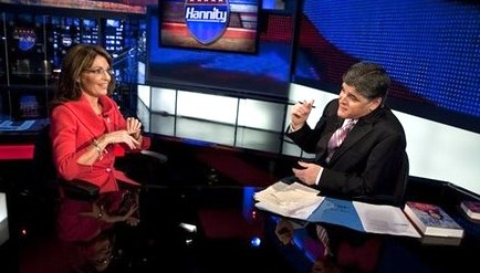 Sarah Palin and Sean Hannity on FOX News