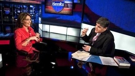 Sarah Palin and Sean Hannity on FOX News