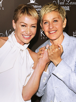 Portia and Ellen DeGeneres