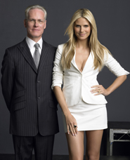 Project Runway's Tim Gunn and Heidi Klum