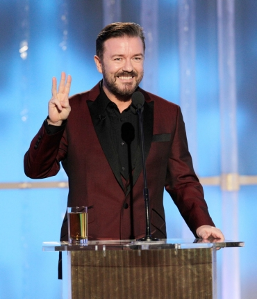 Ricky Gervais hosts the Golden Globes 2012