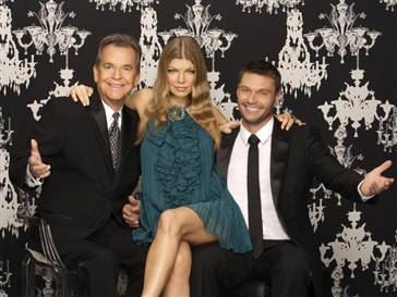 Dick Clark, Fergie and Ryan Seacrest