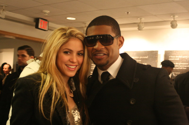 Shakira and Usher