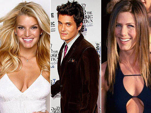 Jessica Simpson, John Mayer and Jennifer Aniston