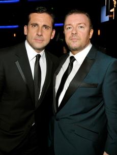 Steve Carell and Ricky Gervais