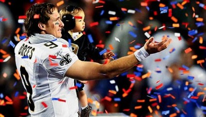 Drew Brees after Super Bowl XLIV