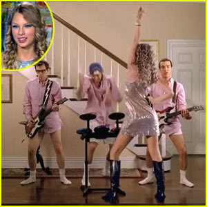 Taylor Swift, Pete Wentz, Rivers Cuomo, and Travis Barker appear in new Band Hero commercial