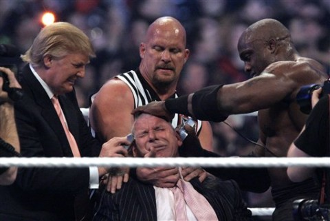 Trump Shaves McMahon