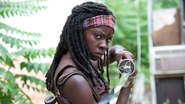 Michonne, played by Danai Gurira