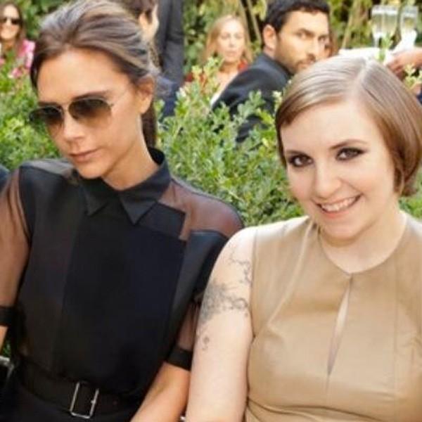 Victoria Beckham and Lena Dunham