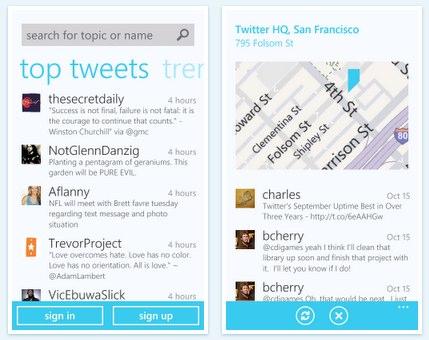 windows phone 7 twitter app