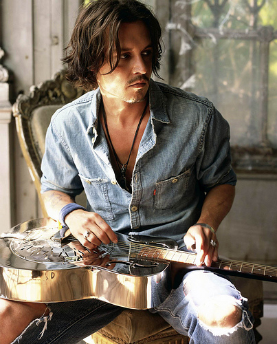 Depp as Musician Boyfriend