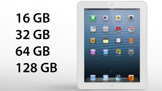 Apple on the Road with 128 GB Version of iPad 4?